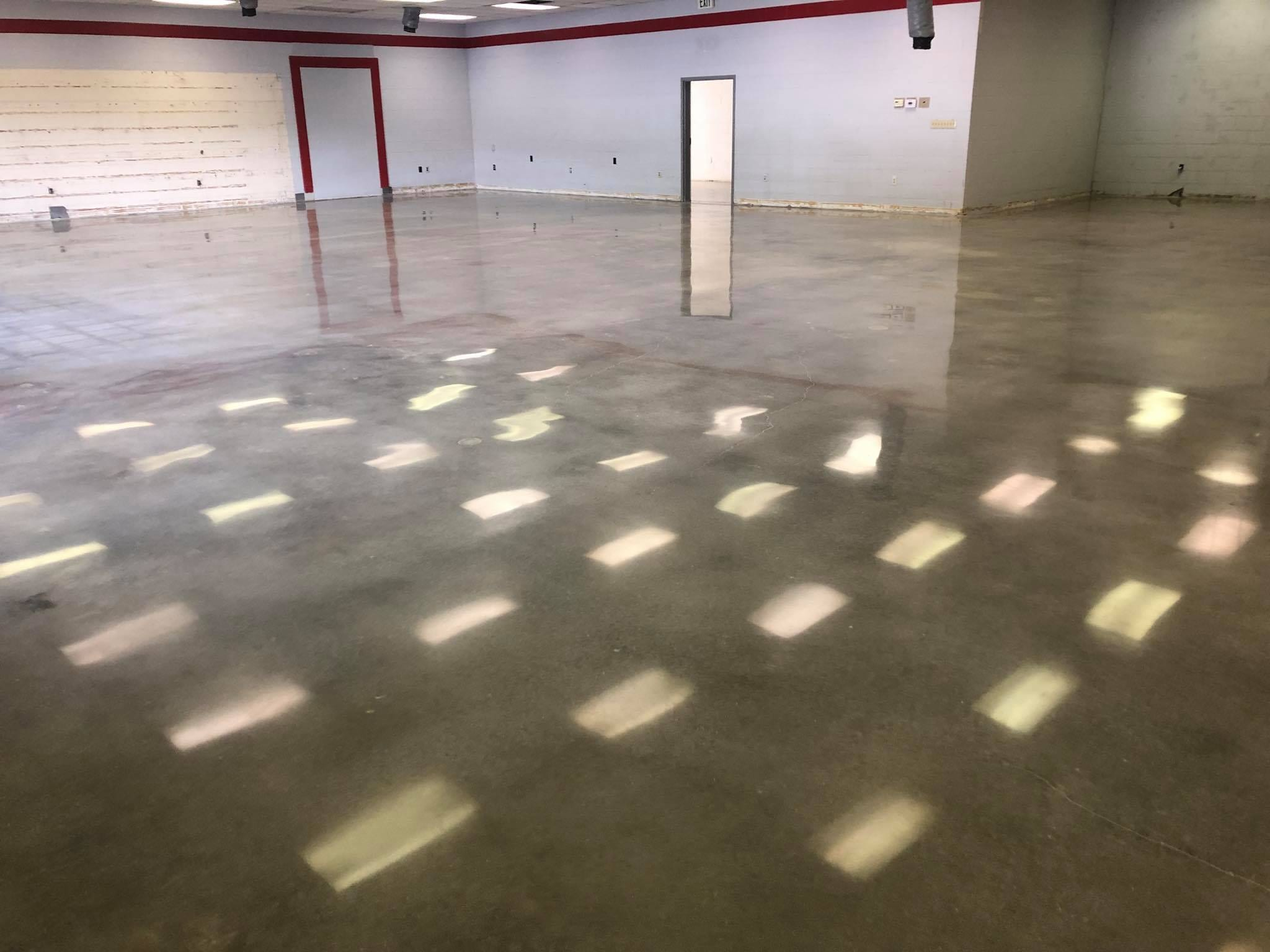 Polished Concrete for an EMS services building.